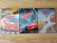 Disney Pixar's Cars 1 2 3 DVD trilogy Bundle Lightning McQueen and Mater NEW