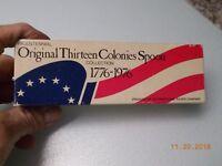 Bicentennial Original 13 Colonies Silver Spoon Collection International Silver