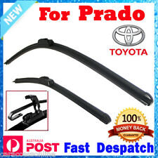 Pair Frameless Wiper Blades For TOYOTA Landcruiser Prado 150 series 2009 - 2012