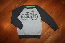 NWT Gymboree Boy Genius Size 3T Gray Bicycle Bike Sweater