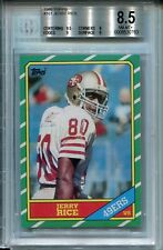 1986 Topps #161 Jerry Rice Rookie BVG 8.5 NM-MT+ San Francisco 49ers