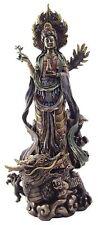 Kwan Yin on Dragon Statue with Olive Branch of Peace Kuan Yin Quon Yin #1652