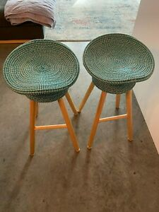 Umbra Shift Coiled Counter Stool Set of 2, Teal