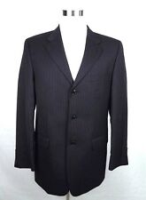 Donald Trump Mens Suit Coat Size 42L Black Pinstripe Three Button 100%  Wool