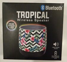 Tropical Wireless Speaker Compatible With Bluetooth Rechargeable Battery