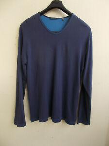 Dunkelblaues Sweatshirt Joggingshirt Langarm aus ganz weicher Baumwolle Gr.50/52
