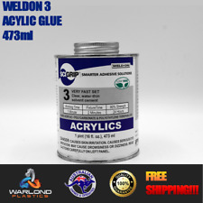 SCIGRIP WELD-ON #3  / ACRYLIC CEMENT GLUE /QUICK DRY / WATER THIN / 473ml