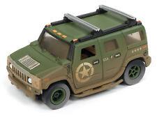 AUTO WORLD *XTRACTION* HO OFF ROAD SLOT CAR = US ARMY Green 2004 Hummer H2 *NIP*