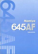 Mamiya 645AF Instruction Manual
