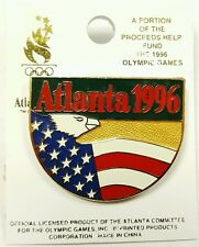 1996 Olympic Games in Atlanta Georgia Hat Lapel Pin w/ EAGLE AND AMERICAN FLAG