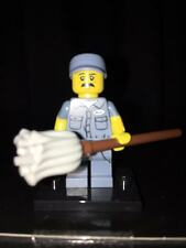 The JANITOR Lego Minifigure SERIES 15 DISPLAY PIECE New