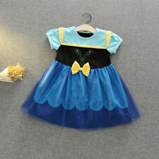 Girls Kids Snow White Anna Cosplay Party Princess Dress Summer Mini Tutu Dresses