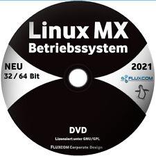 2021 LINUX MX 19.4 DVD / CD, Live-System 64 Bit Betriebssystem, mit Anleitung