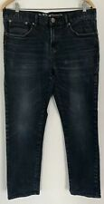 "Mens Red Herring Black Slim Fit Jeans Size: Waist 34"" x  Length 28"""