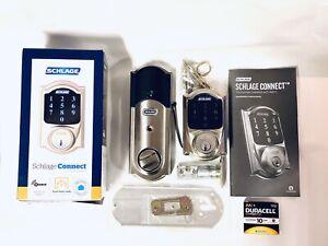 Schlage Connect Smart Lock Touch Deadbolt Camelot Satin Nickel Z-WAVE