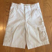 OLD NAVY Boys Kids Tan Beige Khaki Shorts Size 8 Slim Adjustable Waist Cotton