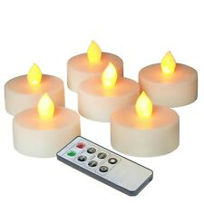 """6 PCS Battery Flickering Flameless LED Tealight Candles with Remote 2"""" x 2.2"""""""