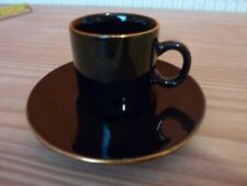 Gold Gilded Nescafe Espresso Cup Saucer Hornsea Pottery Collectable Coffee Black