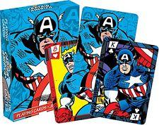 CAPTAIN AMERICA Lot de 52 cartes à jouer (NM 52278)