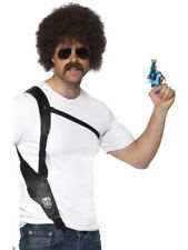 Leather Look Shoulder Holster Cowboy Adult Mens Fancy Dress Costume Accessory