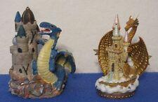 Marjorie Sarnat San Francisco Music Box Co Dragon On Castle Figure + 2nd Dragon