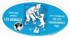 TINTIN - Autocollant Chaîne bleue 2001 - Ed. Moulinsart.