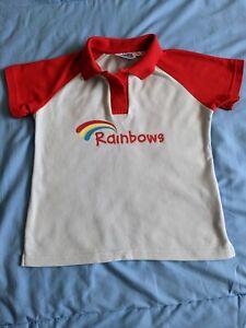 Official Rainbows School Uniform Girls Polo T Shirt Top Size Medium