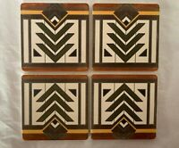 Frank Lloyd Wright Geometric Art Deco Coasters Set of 4 Barware Meyer May House