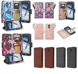LG Journey LTE Design Wallet Credit Card ID Slot Kick Stand Flip Cell Phone Case
