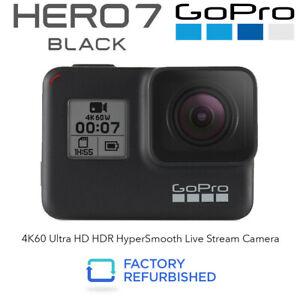 GoPro Hero7 Black 4K60 Ultra HD HyperSmooth Camera Refurbished 6 Months Warranty