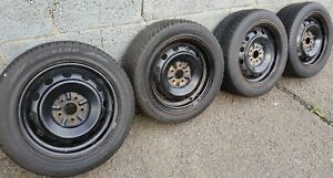"4x Steel 15"" Wheels and Tyres (205/55/R15 - 5x90)"