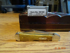 """CASE XX 3.625"""" MINI COPPERLOCK CLOSED POCKET KNIFE ANTQUIE BONE 58186 TRU-SHARP"""