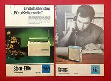 2 x RFT types Feuille 1970/71 Radio étoile-Elite-COSMOS (f13274