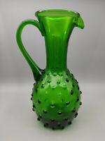 Vase Glas Grün Kanne Krug Noppenglas ca. 20 cm