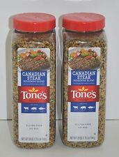 Lot of 2 Tone's Canadian Steak Seasoning NO MSG Net Wt. 28 oz (1.75lb)794g Each