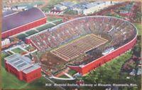 Footall Stadium, Minneapolis, MN 1940s Linen Postcard - University of Minnesota