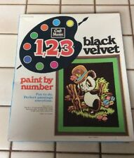 New Vtg Vintage  1, 2, 3 PAINT BY NUMBER SET CRAFT MASTER 14041 Panda
