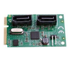 InLine Mini PCI-E PCI-Express To 2 Ports SATA 3.0 6Gbps Expansion Card 1pc
