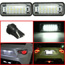 LED License Plaque Light Lamp For Subaru Brz Legacy Wrx Sti Impreza XV Crosstrek