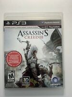 Assassin's Creed III 3 (PlayStation 3) PS3- W/ Manual & Tested- FAST SHIPPING