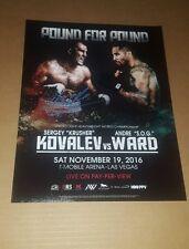Sergey Kovalev vs Andre Ward picture signed by Sergey Kovalev