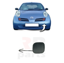 FOR NISSAN MICRA 2003 - 2005 NEW FRONT BUMPER TOW HOOK COVER CAP FOR PAINTING