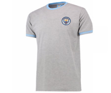 Manchester City Classic Pique T-Shirt Grey Small TD171 SS 09