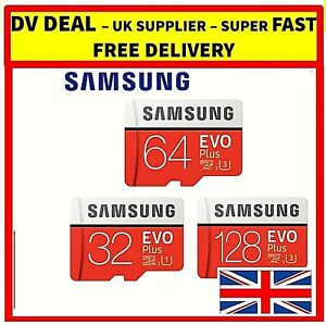 Samsung EVO Plus Micro SD Card 32GB 64GB 128GB SDHC CLASS10 Card & ADAPTER