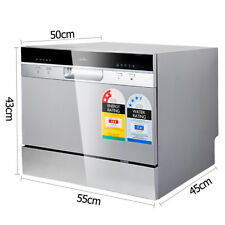 5 Star Chef Electric Benchtop Dishwasher Freestanding Countertop Kitchen Silver