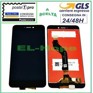 DISPLAY LCD HUAWEI P8 LITE 2017 PRA-LA1 LX1 LX3 TOUCH SCREEN SCHERMO VETRO NERO