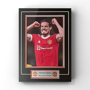 Edinson Cavani - Manchester United Forward Signed Display