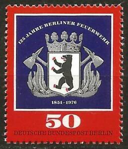 Germany Berlin 1976 MNH - 125th Anniversary Fire Service (Emblem Berlin Bear)