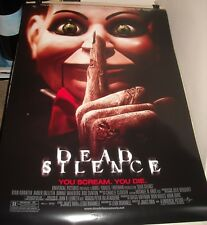 ROLLED 2007 DEAD SILENCE 1 SHEET MOVIE POSTER DONNIE WAHLBERG HORROR NICE ART