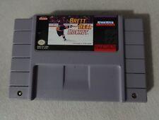 EUC Brett Hull Hockey Super Nintendo SNES Cart Only Free Ship